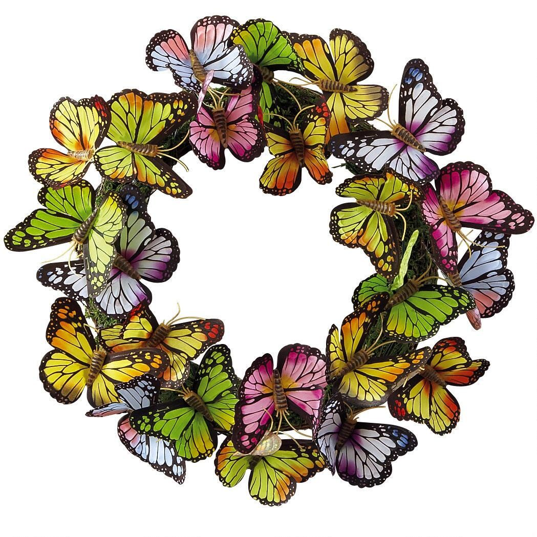 Brilliant Butterflies Wreath