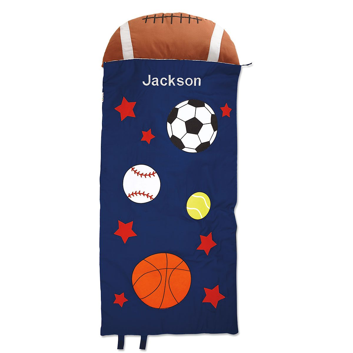 Personalized Sports Sleeping Bag with Detachable Pillow