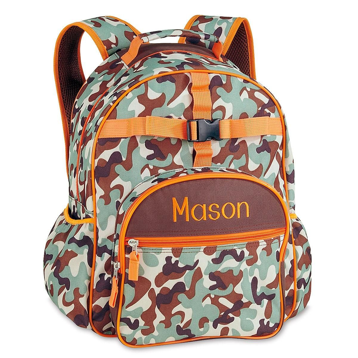 Orange/Brown Camo Backpack