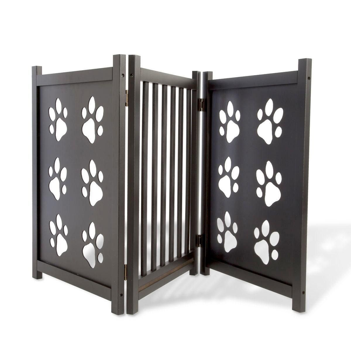 Pawprints Pet Wooden Gate