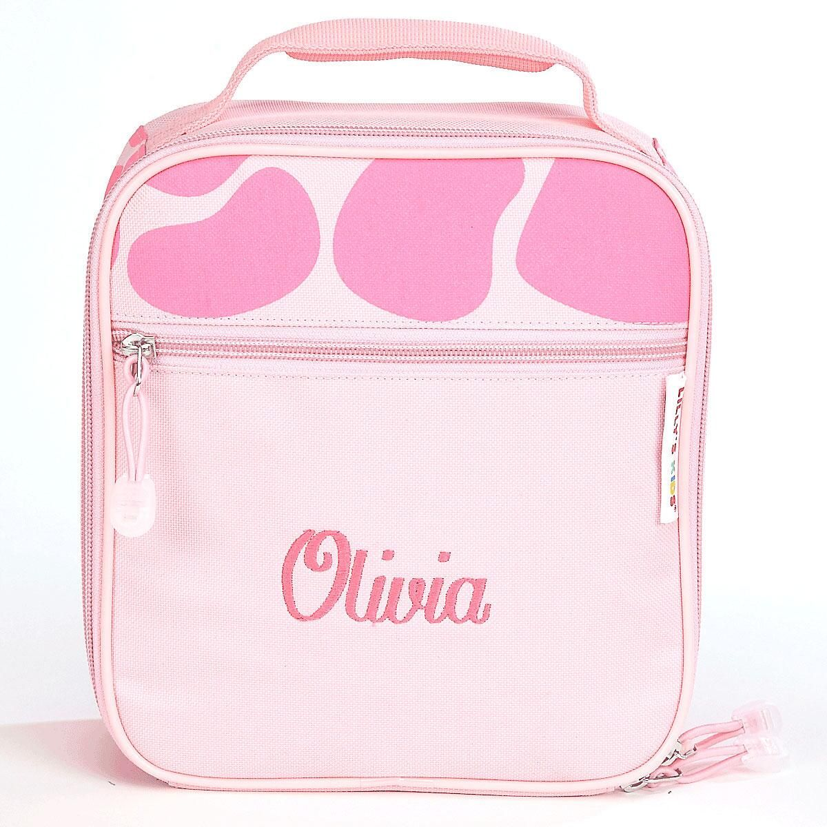 Pink Giraffe Lunch Bag