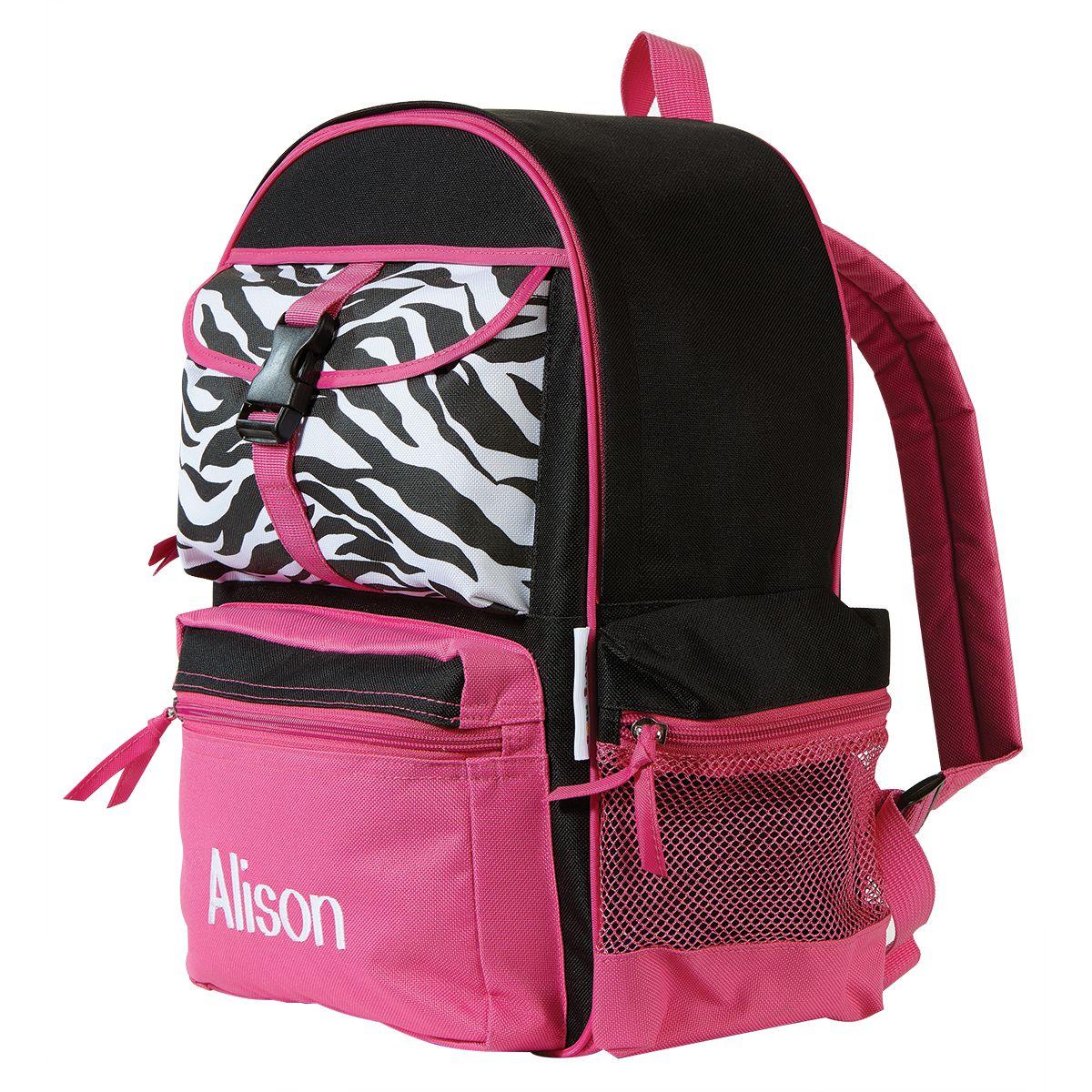 Zebra Print Personalized Backpack