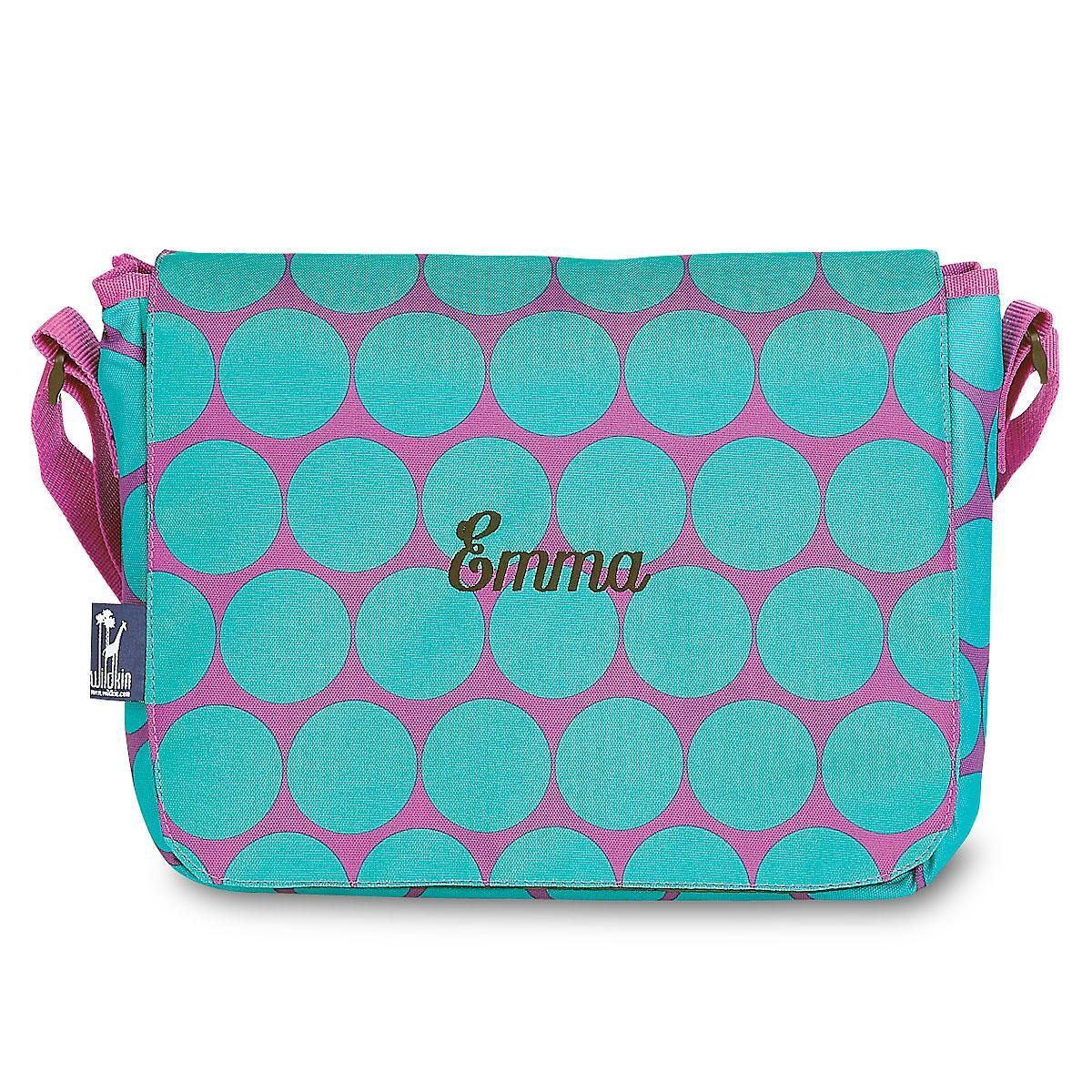 Aqua Dots Messenger Bag