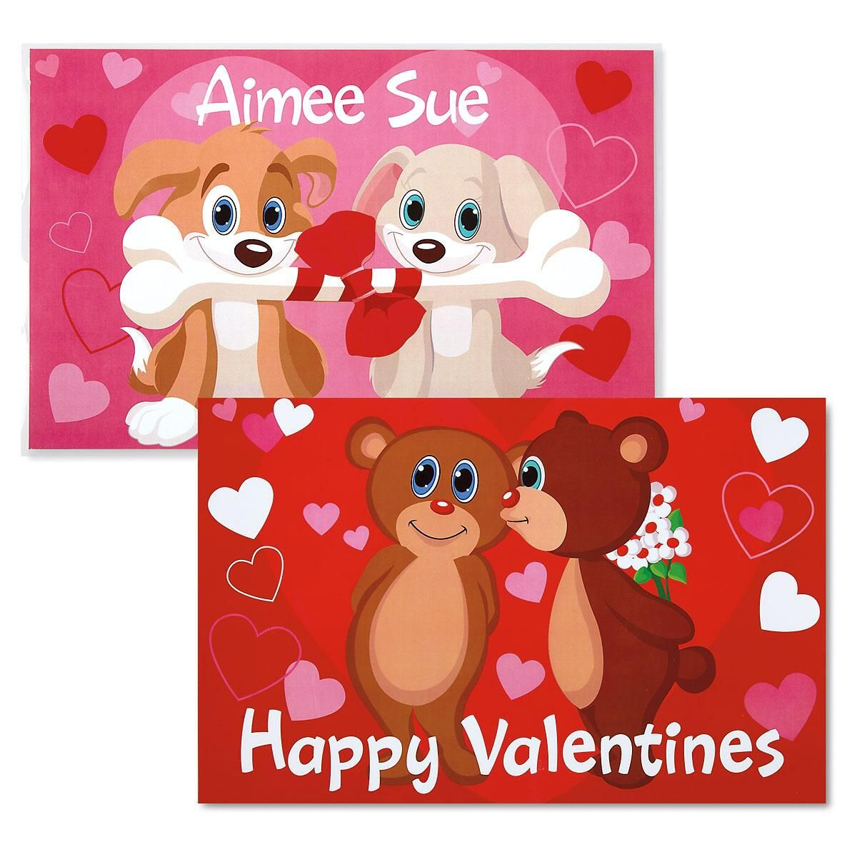 Reversible Valentine Placemat - Puppies/Bears