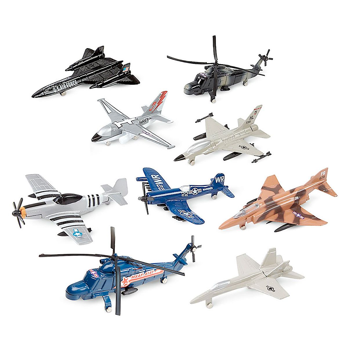Mini planes set of 9