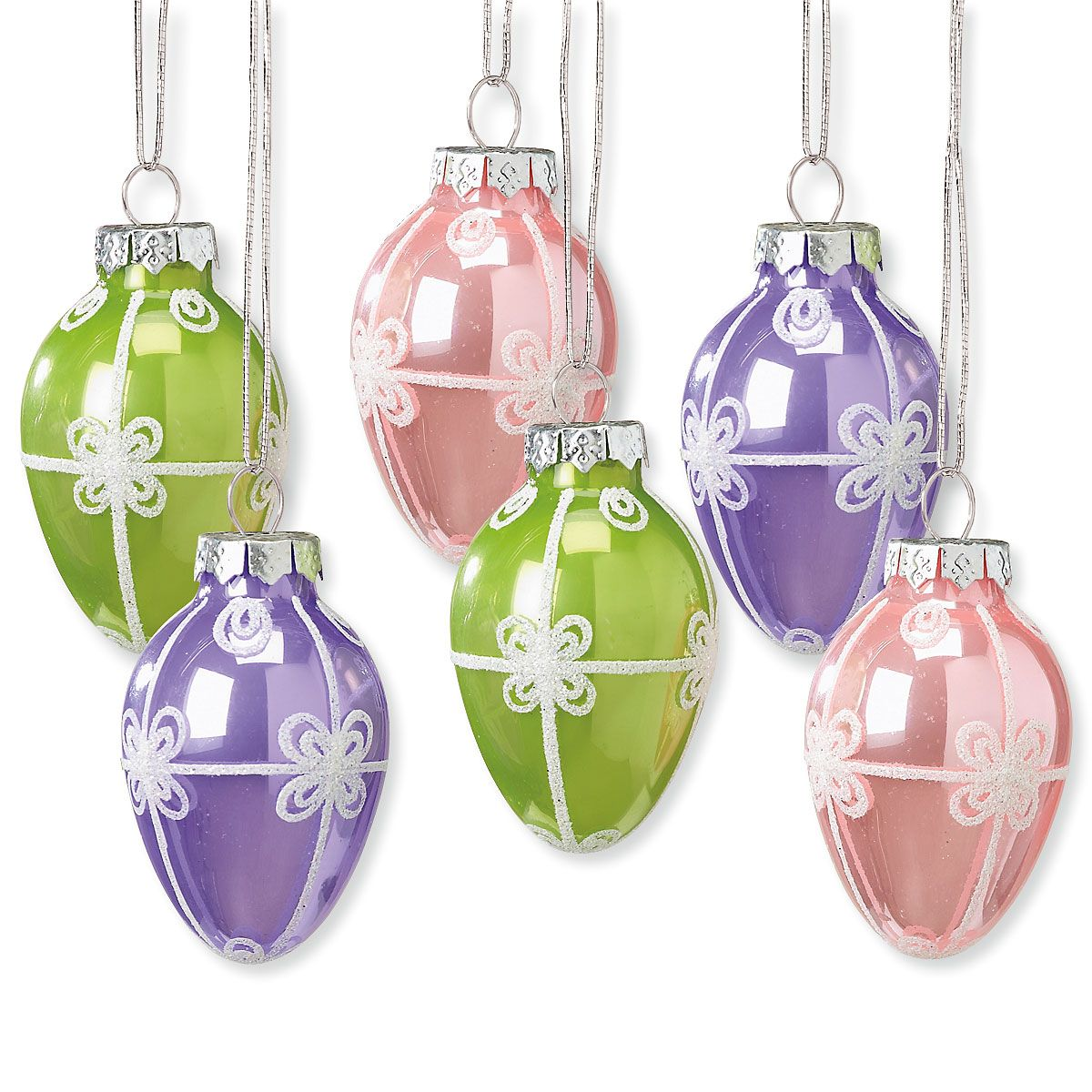 Glass Egg Ornaments
