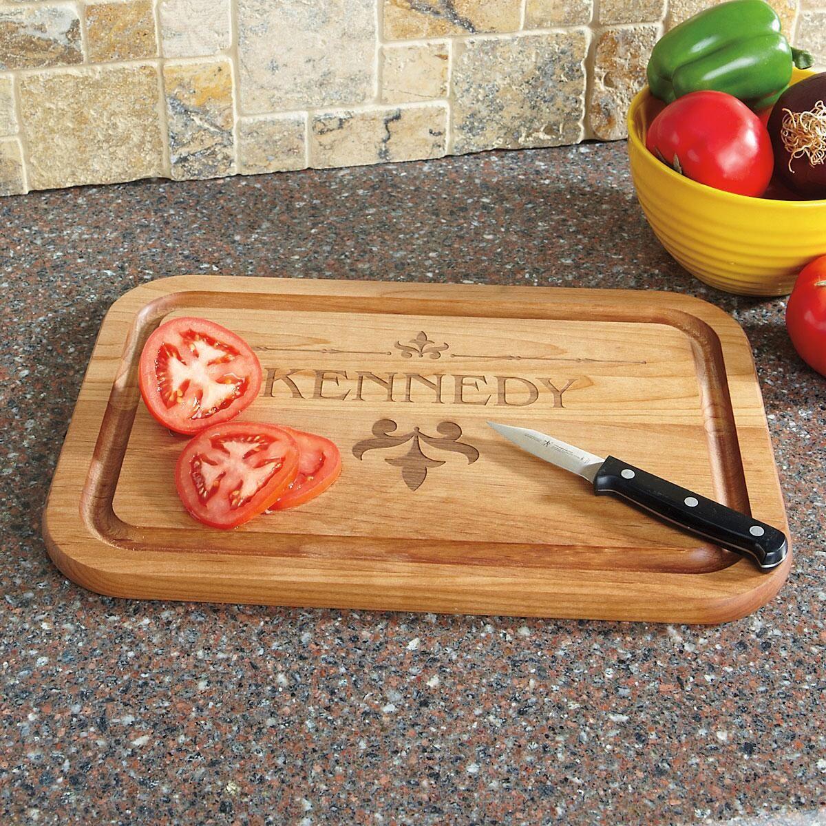 Fleur de lis Red Alder Cutting Board