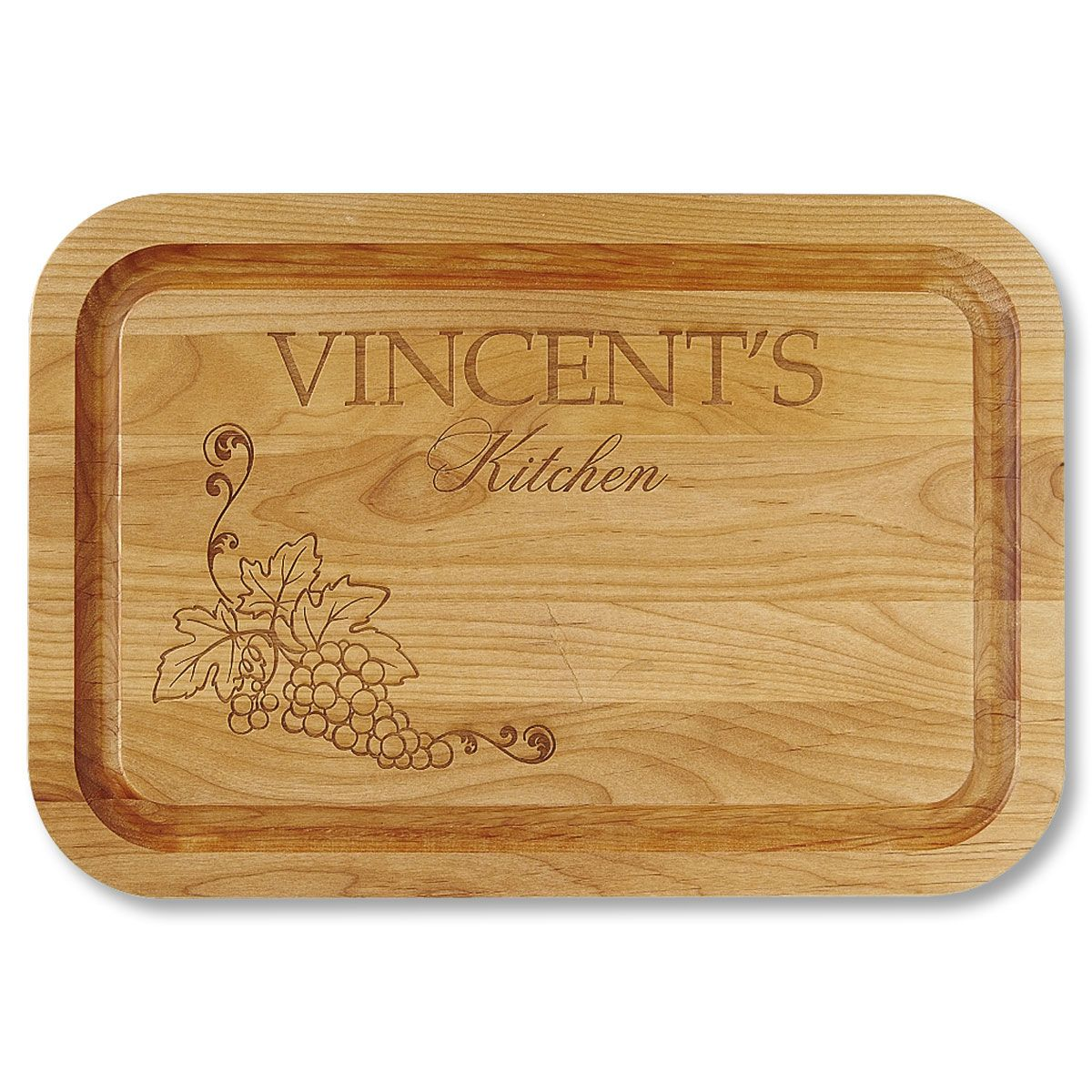 Alder Wood Vineyard Personalized Cutting Board
