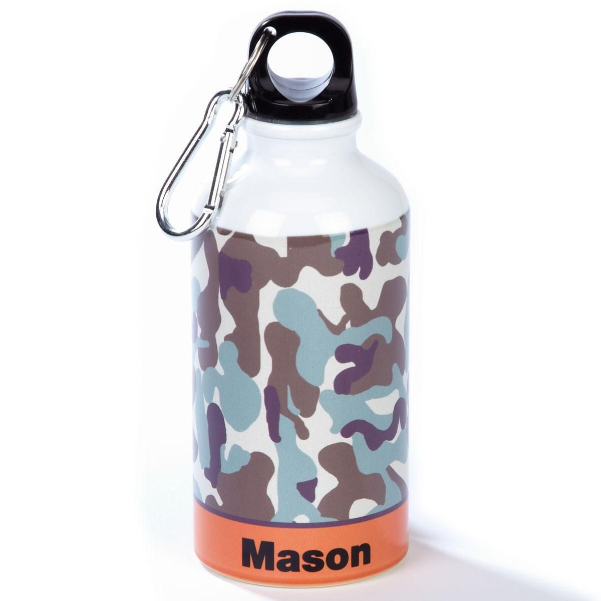 Orange/Brown Camo Water Bottle