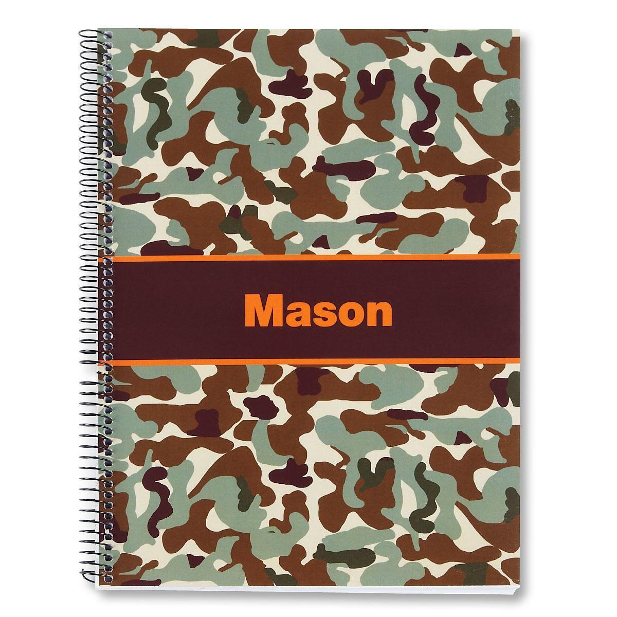 Orange/Brown Camo Large Notebook