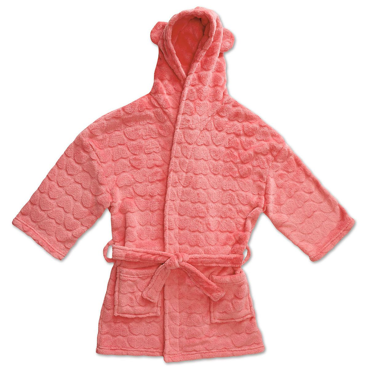 Coral Plush Terry Robes-56-814724A
