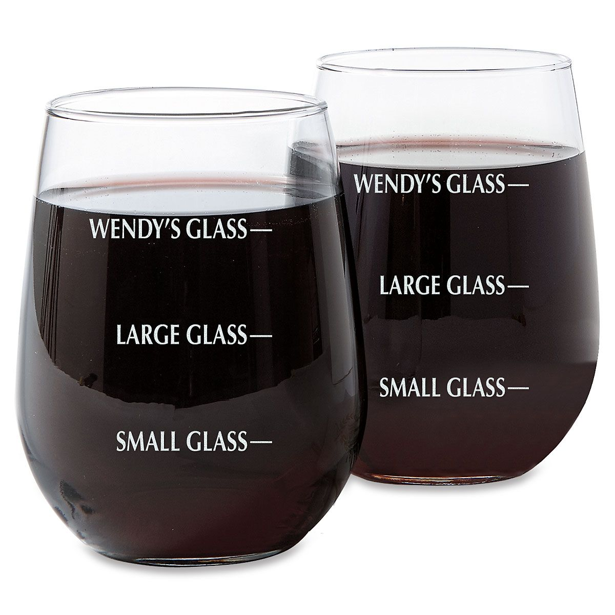 Drink Measure Stemless Wine Glass