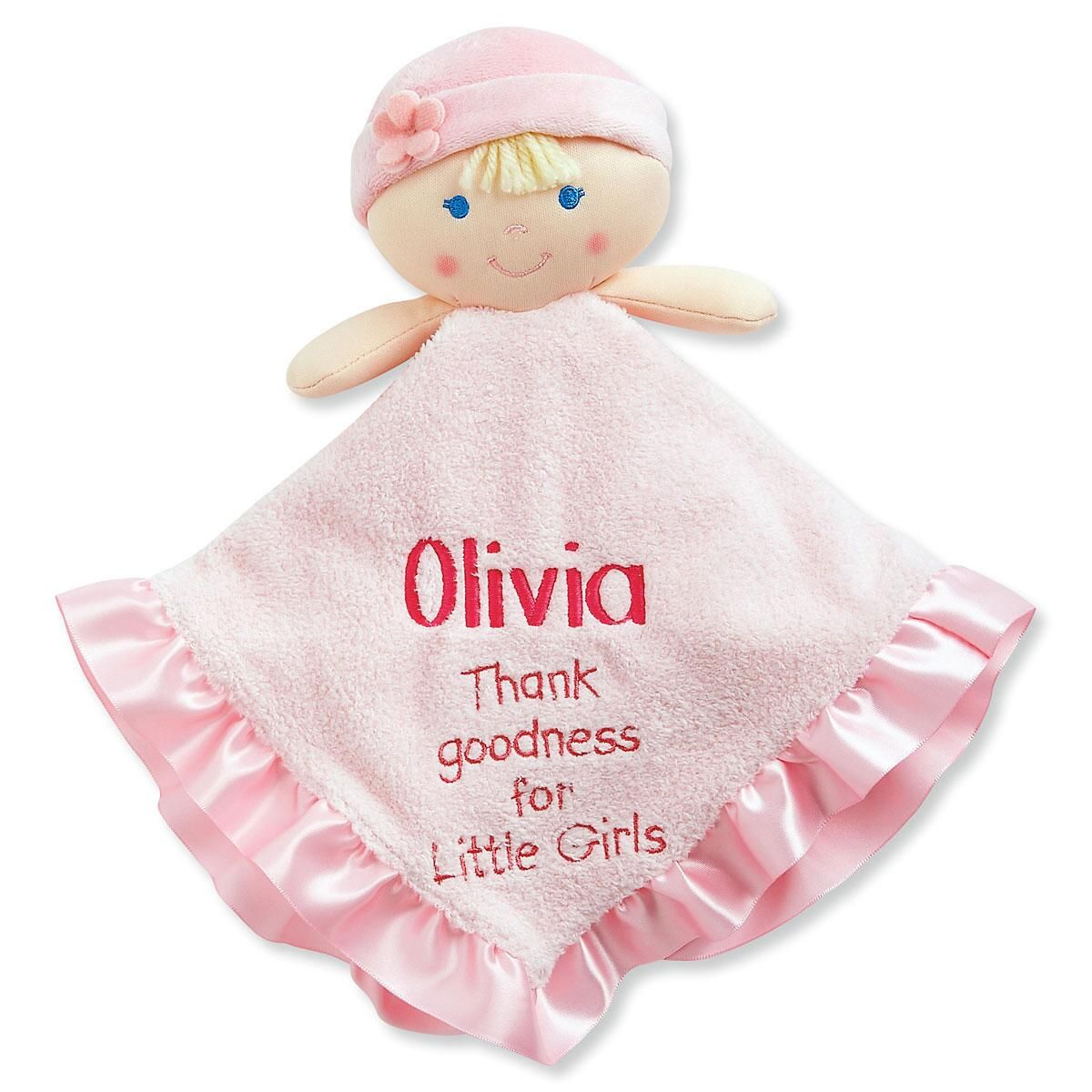 Thank Goodness For Little Girls Doll Blankie
