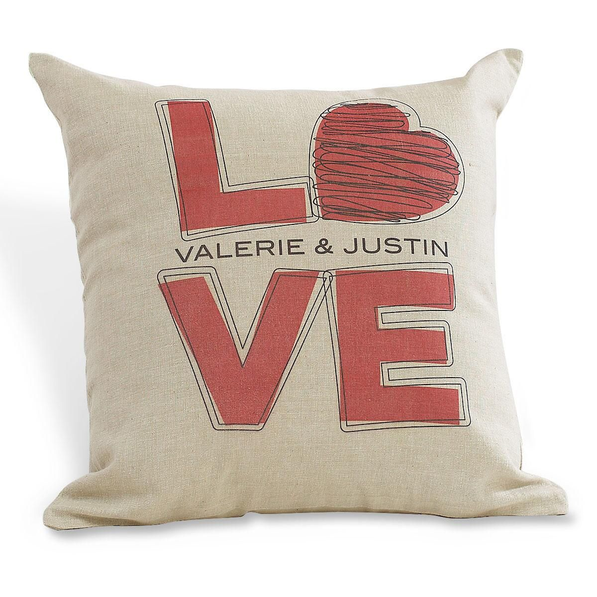 L-O-V-E Pillow