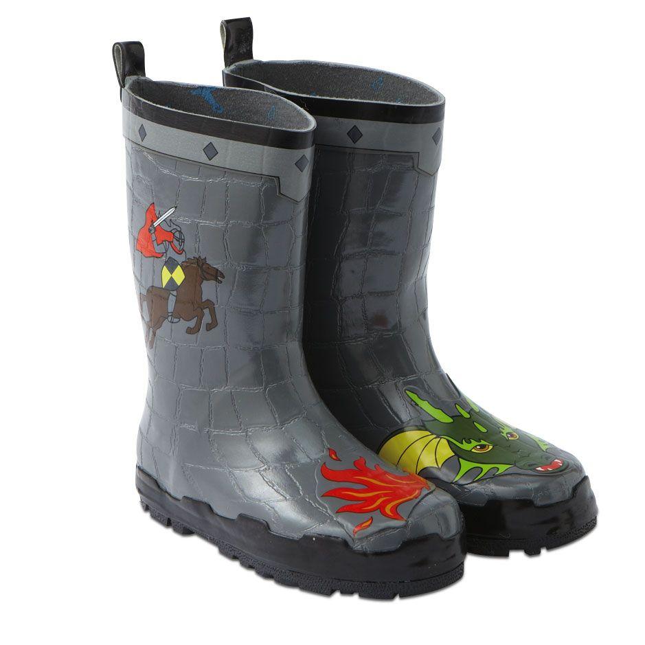 Knight & Dragon Rain Boots - Size 11