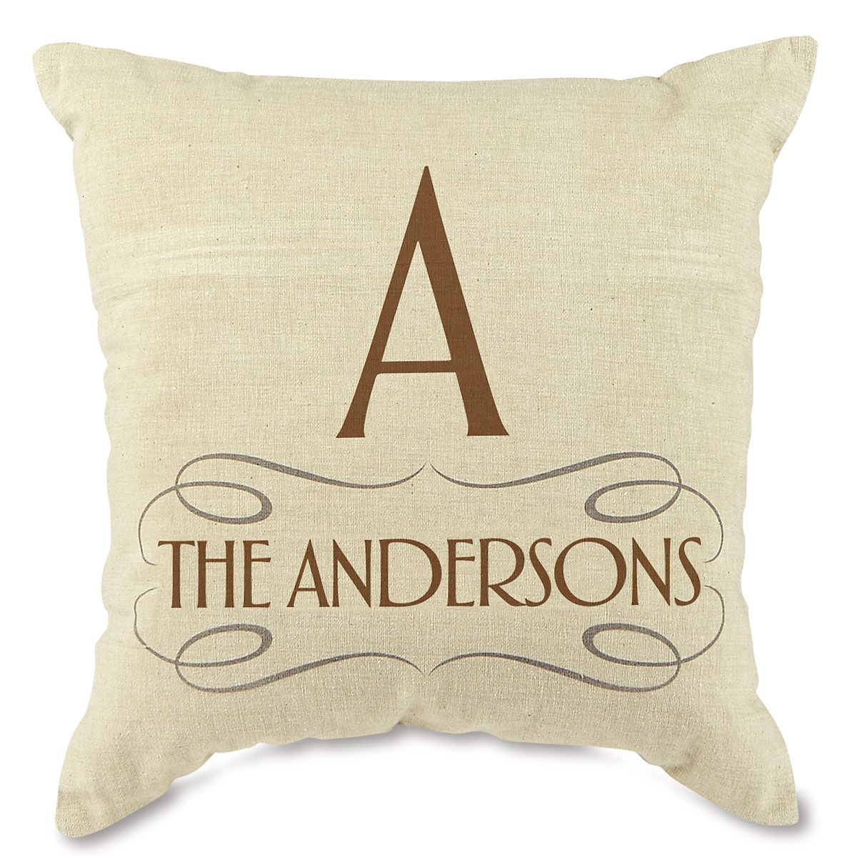 Family Decorative Pillow-Brown-815669B