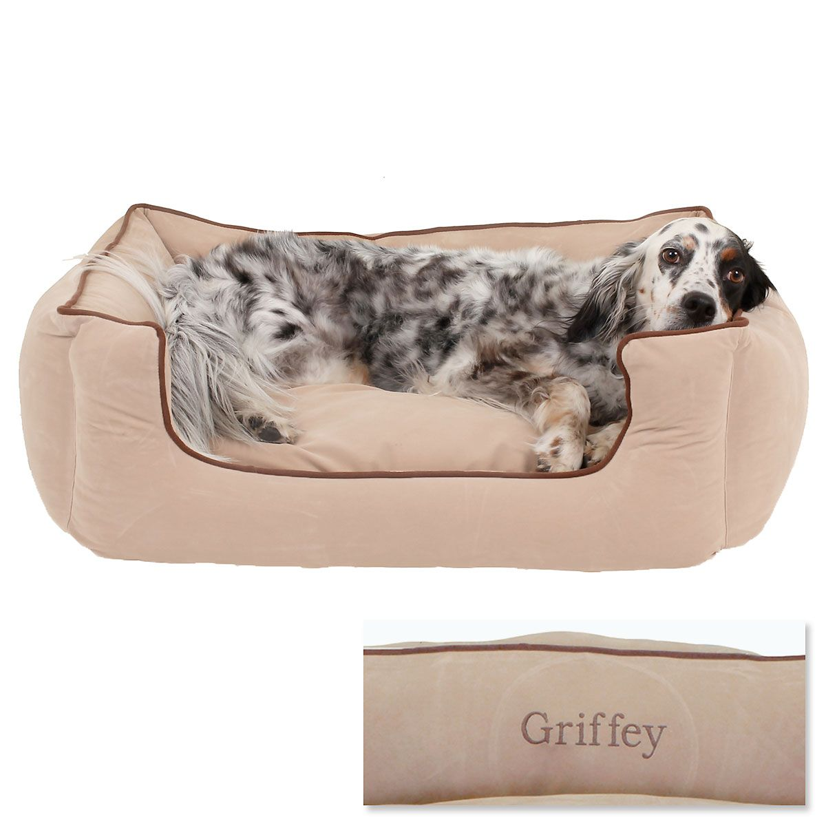 Medium Low Profile Pet Bed - Linen