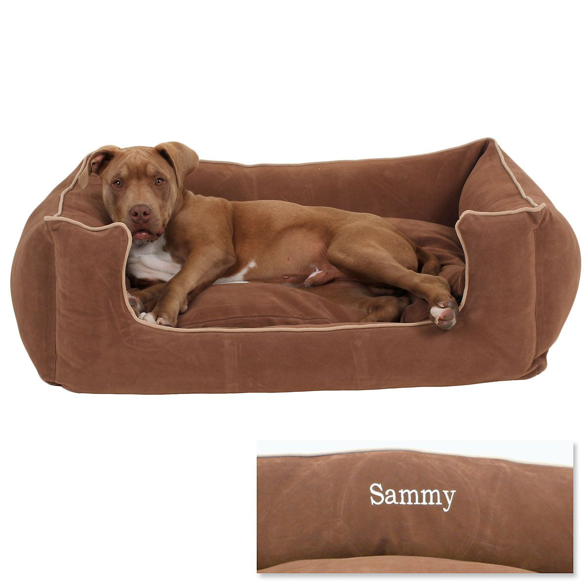 Large Low Profile Pet Bed - Chocolate