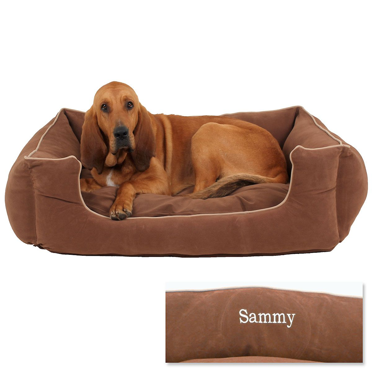 X-Large Low Profile Pet Bed - Chocolate