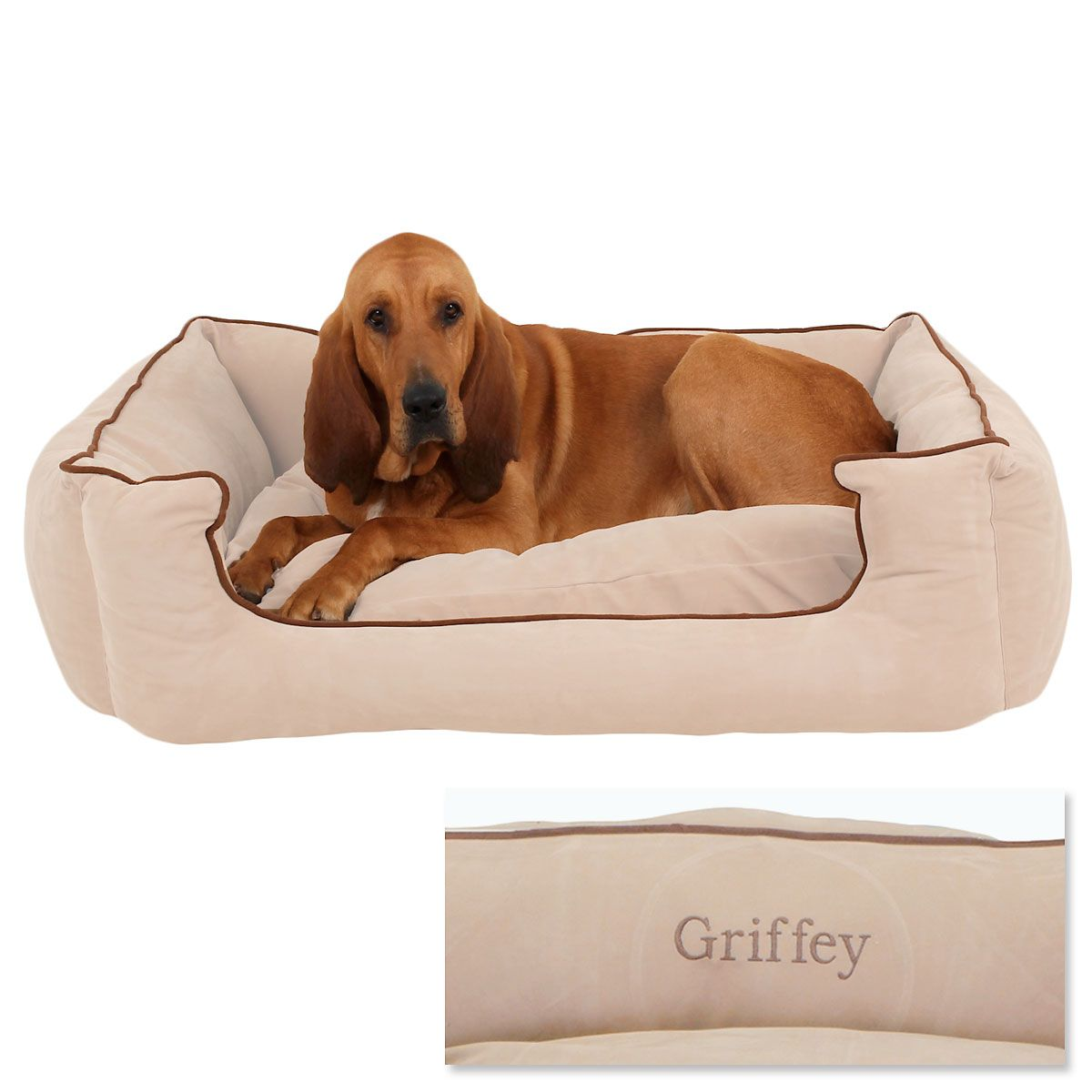 X-Large Low Profile Pet Bed - Linen