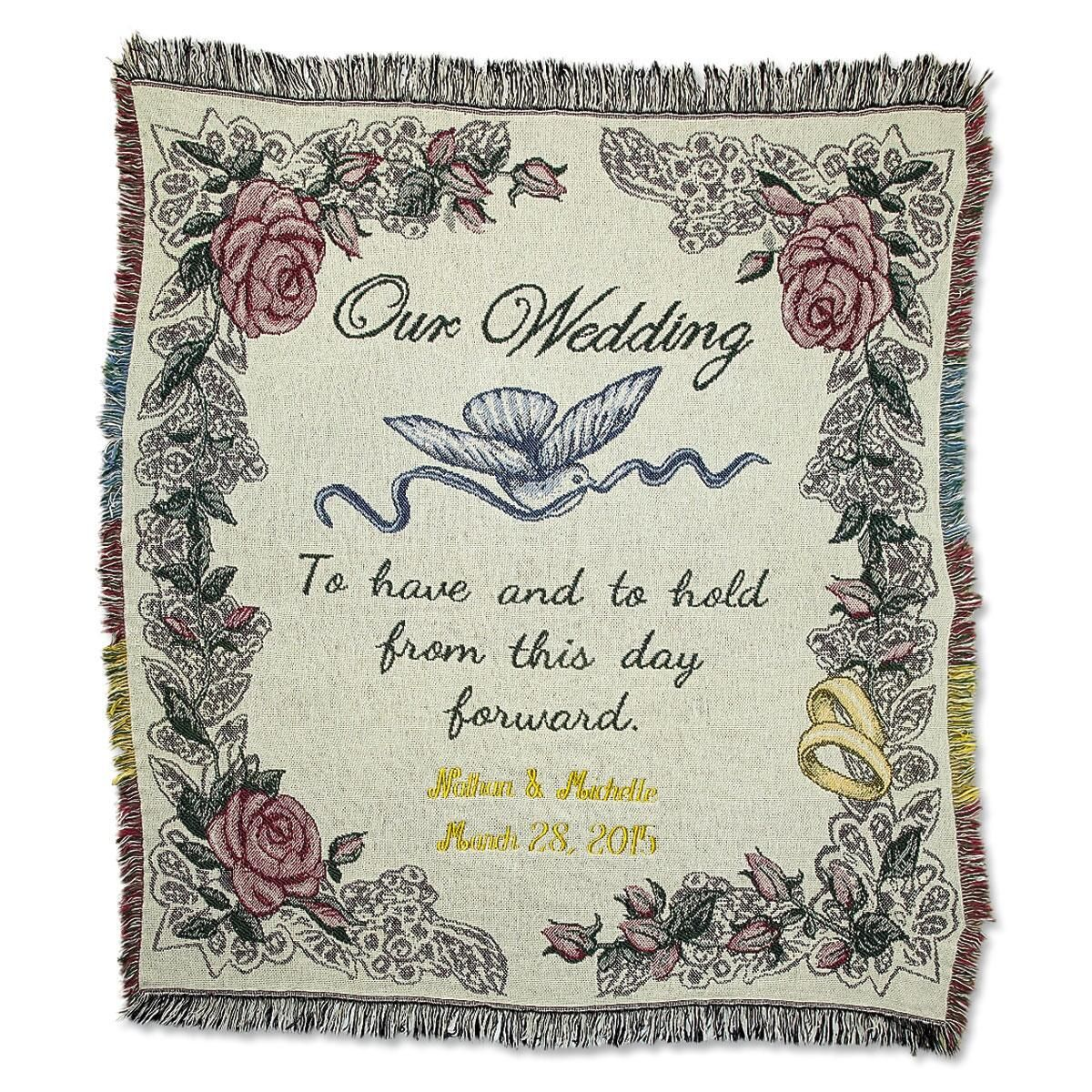 Wedding Personalized Throw