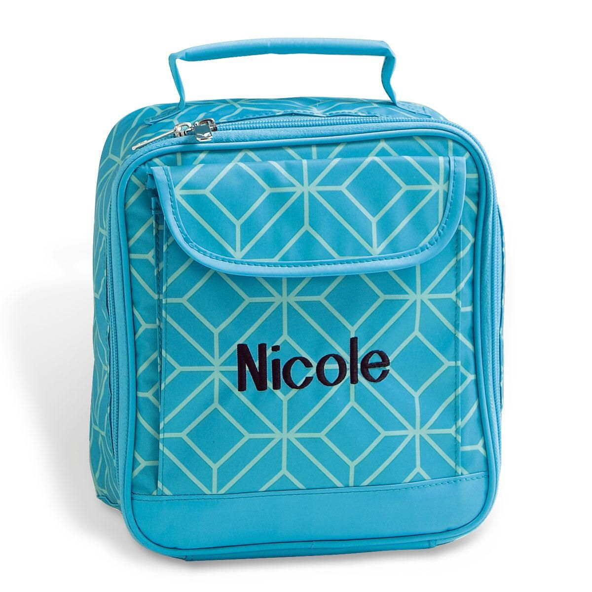 Turquoise Geo Lunch Bag