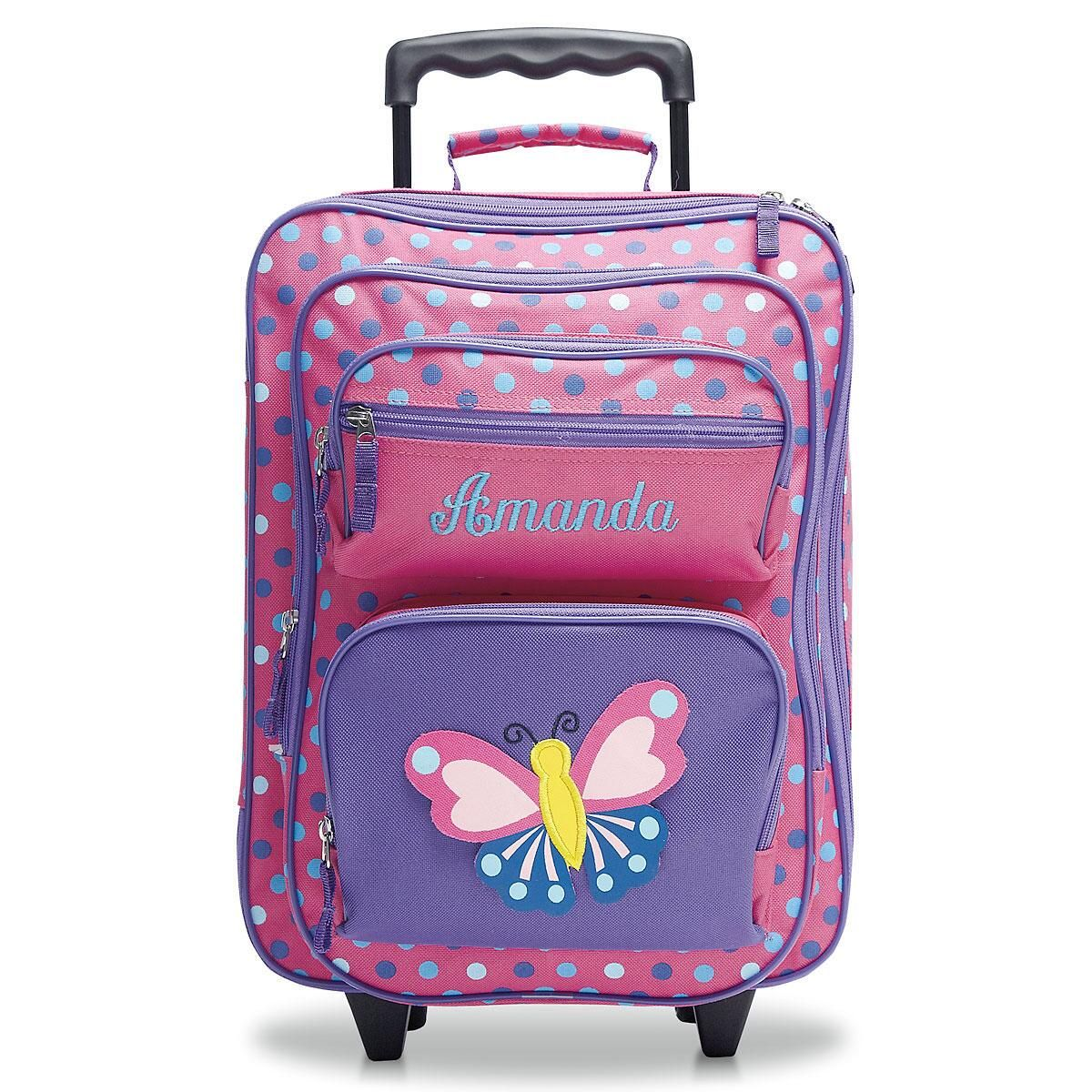 3-D Butterfly Rolling Luggage