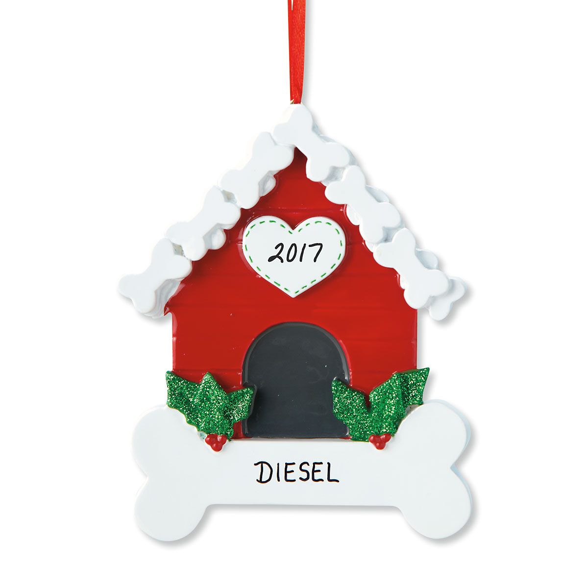 Dog Bone House Personalized Pet Christmas Ornament