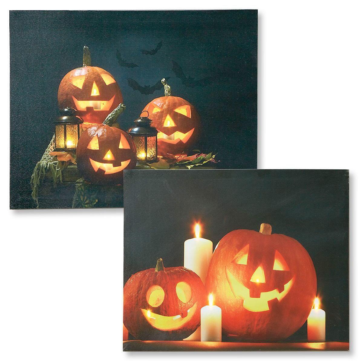 Light-Up Pumpkin Canvas