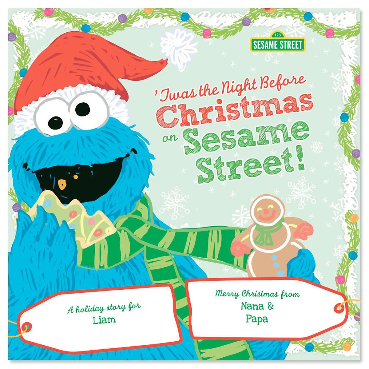 'Twas The Night Before Christmas Sesame Street Personalized Storybook