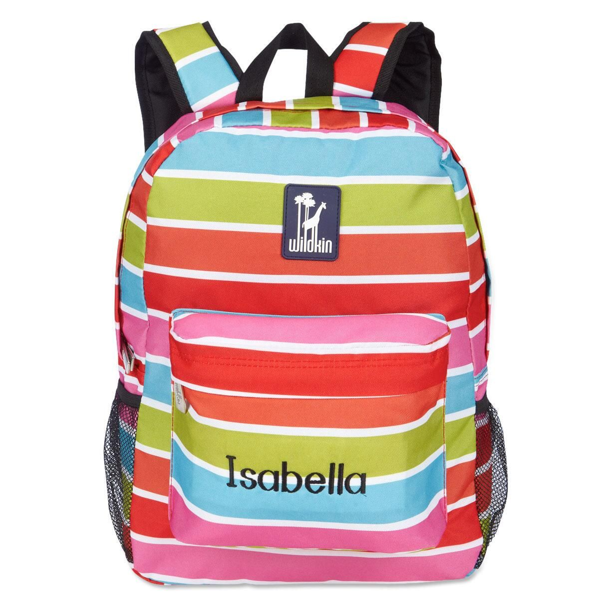 Bright Stripes Personalized Backpack
