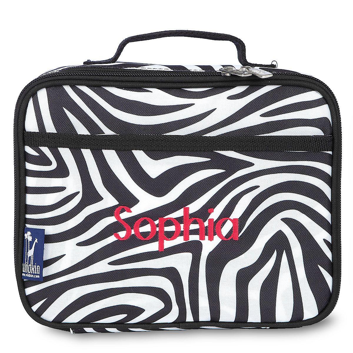 Zebra Lunch Bag