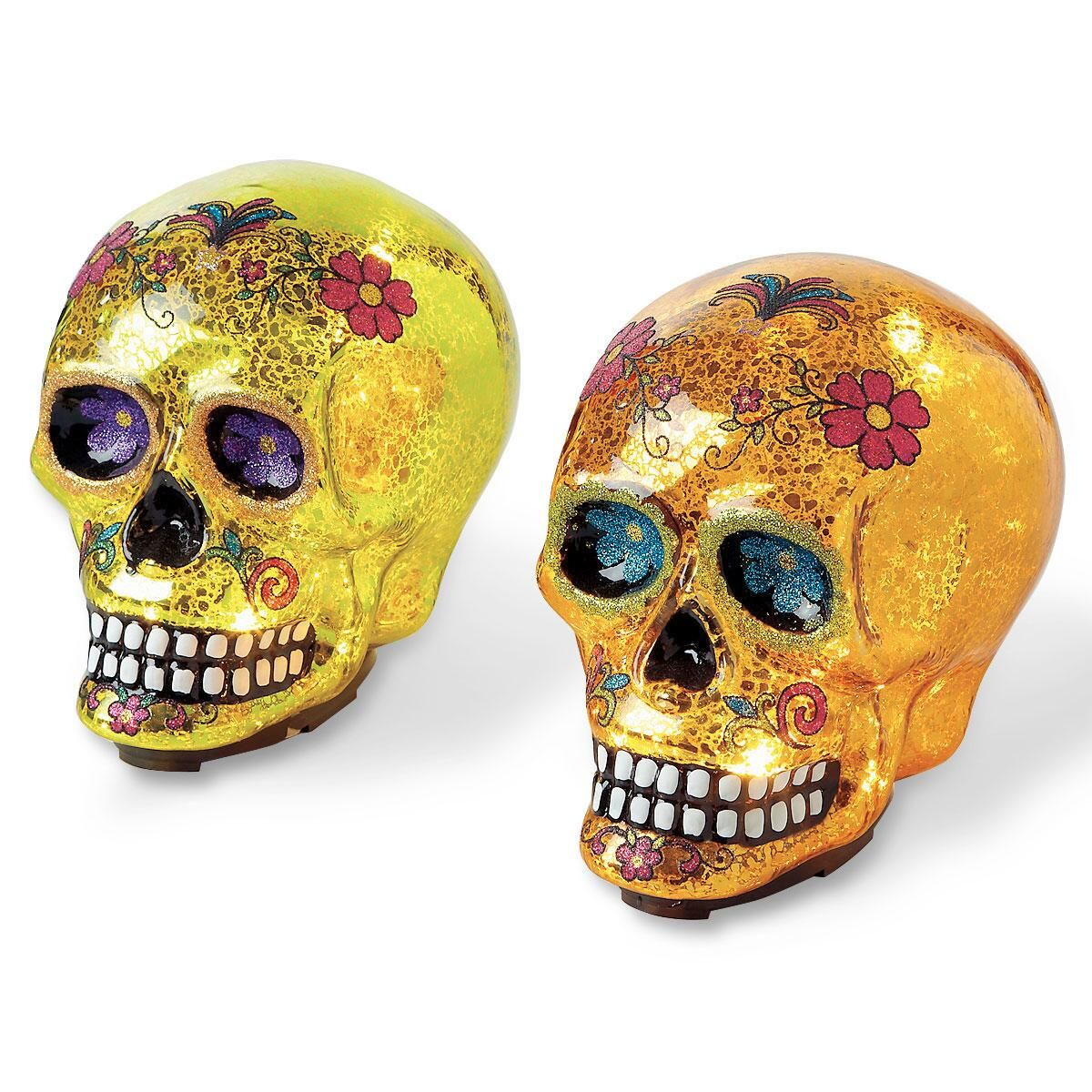 Glowing Glass Sugar Skull