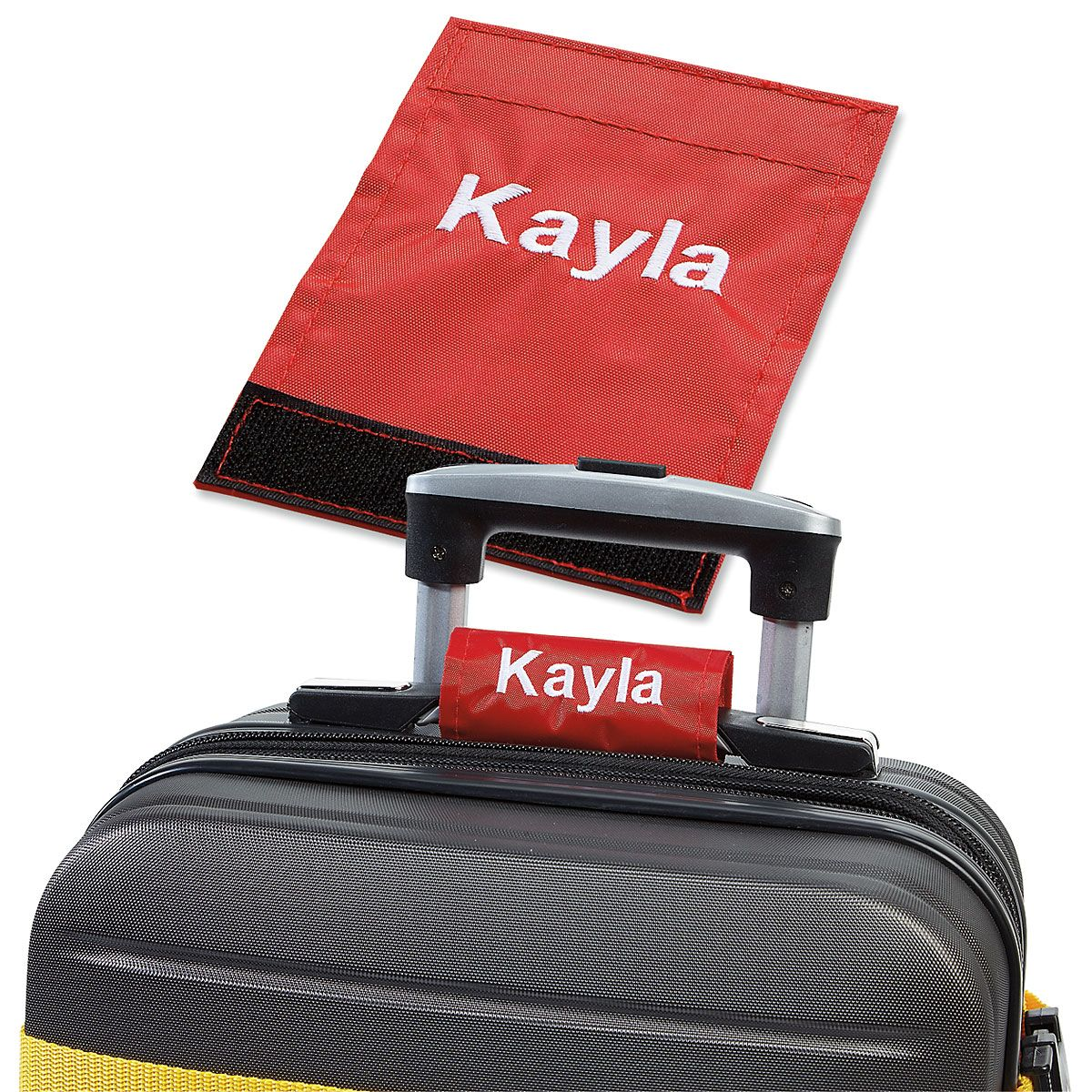 Personalized Luggage Handle Wrap - Red