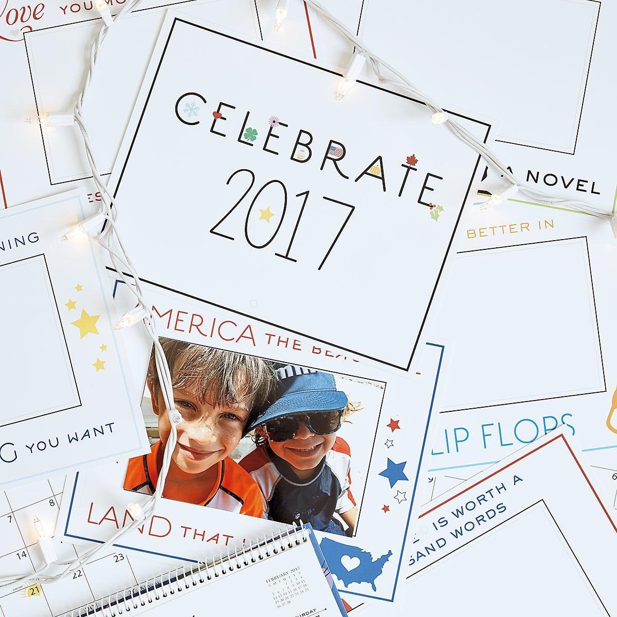2017 Celebrate Photo Frame Calendar by Designer Jillian Yee-Pham