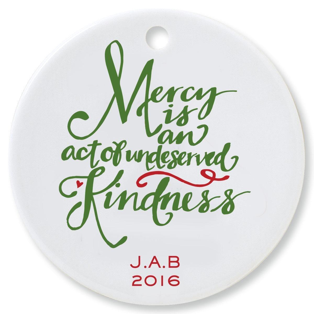 Mercy Round Ornament by Designer Jillian Yee-Pham
