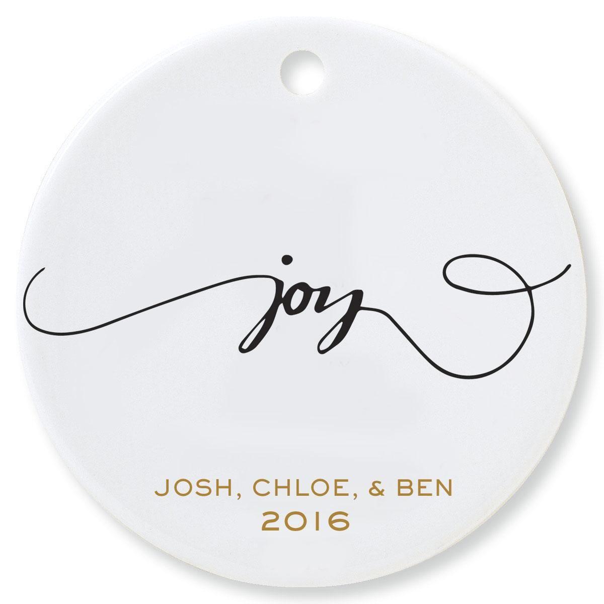 Joy Round Ornament