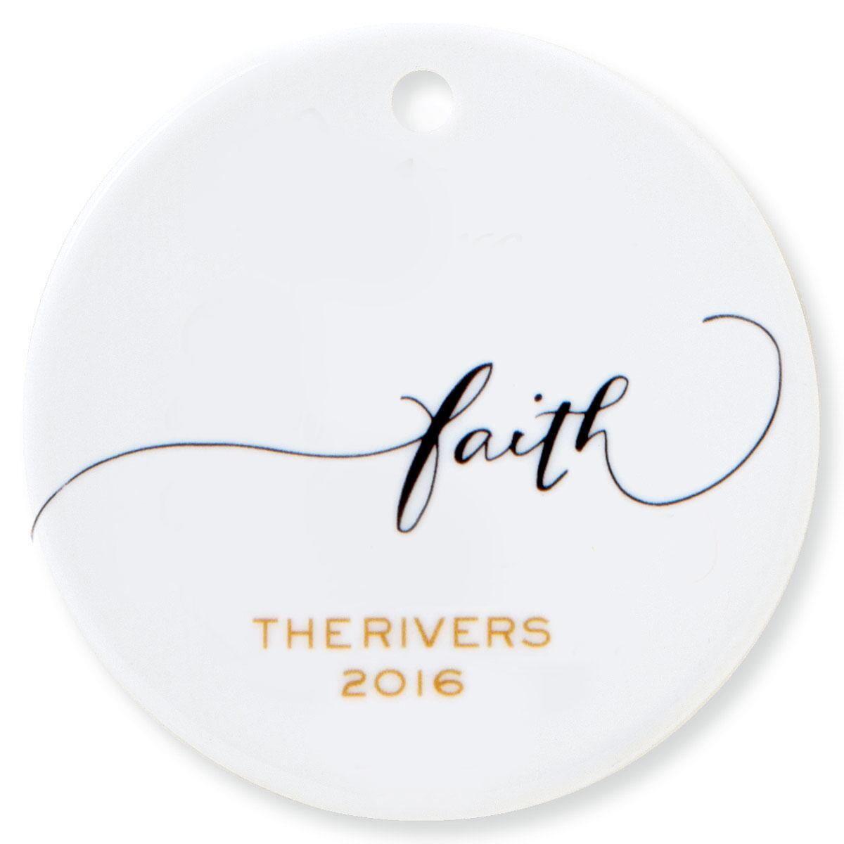 Faith Round Ornament