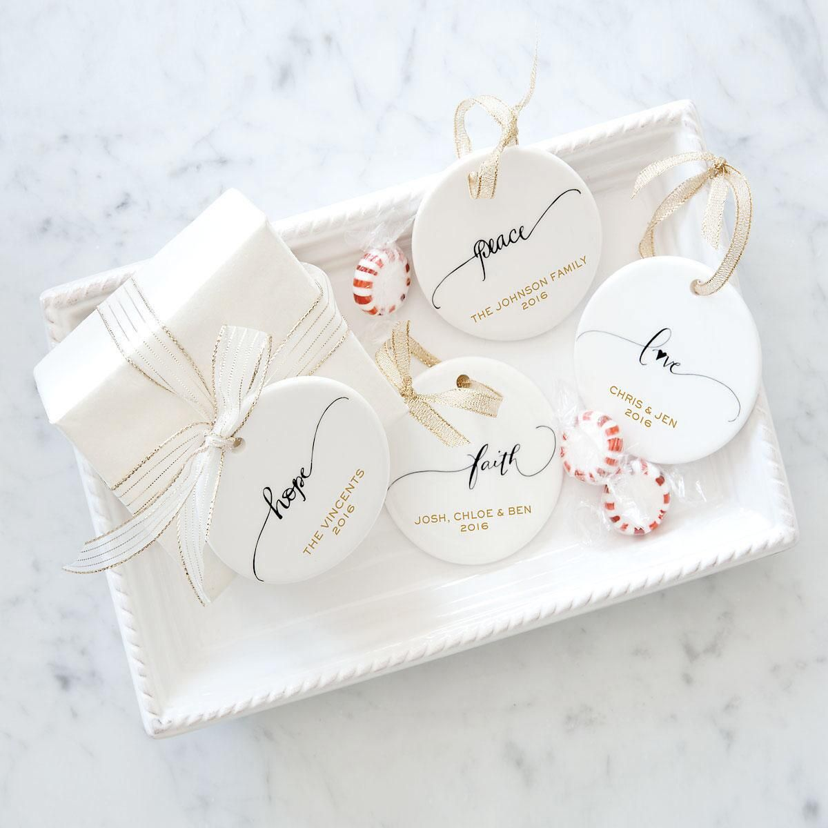 Love Round Christmas Personalized Ornaments