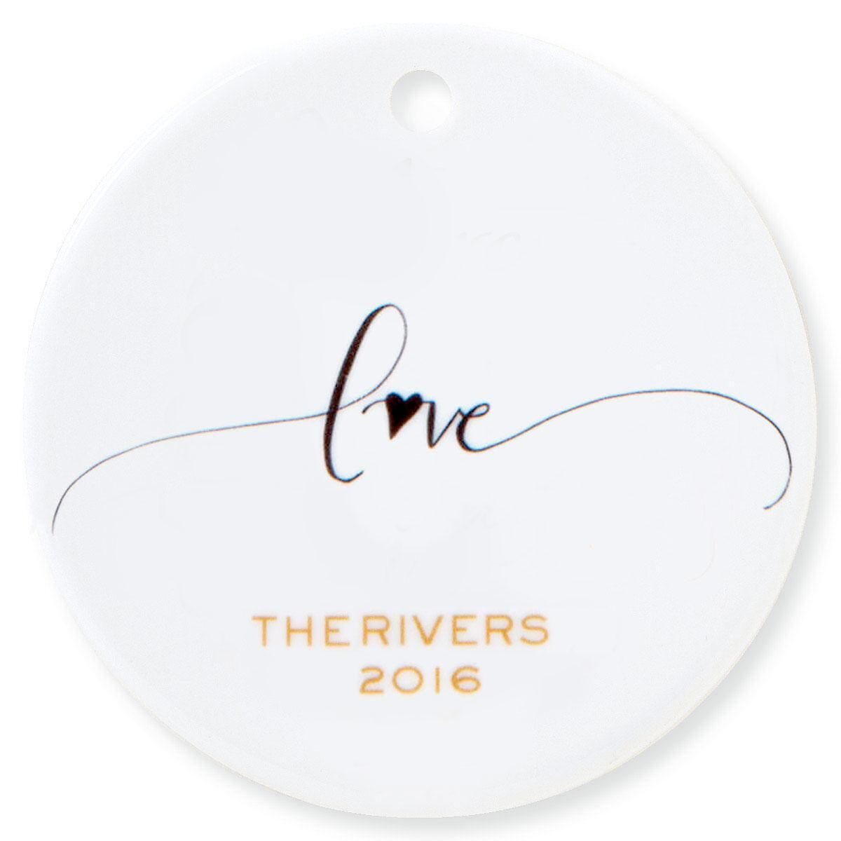 Love Round Personalized Christmas Ornament