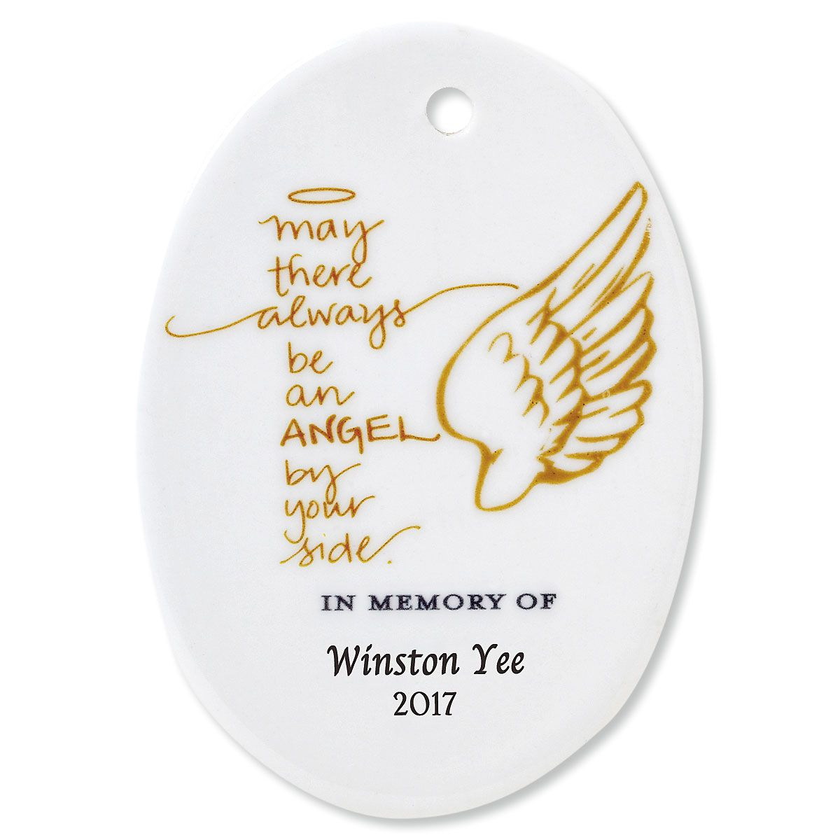 May There Always Oval Memorial Christmas Personalized Ornaments
