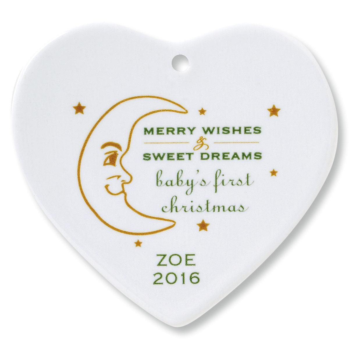 Merry Wishes Heart Ornament