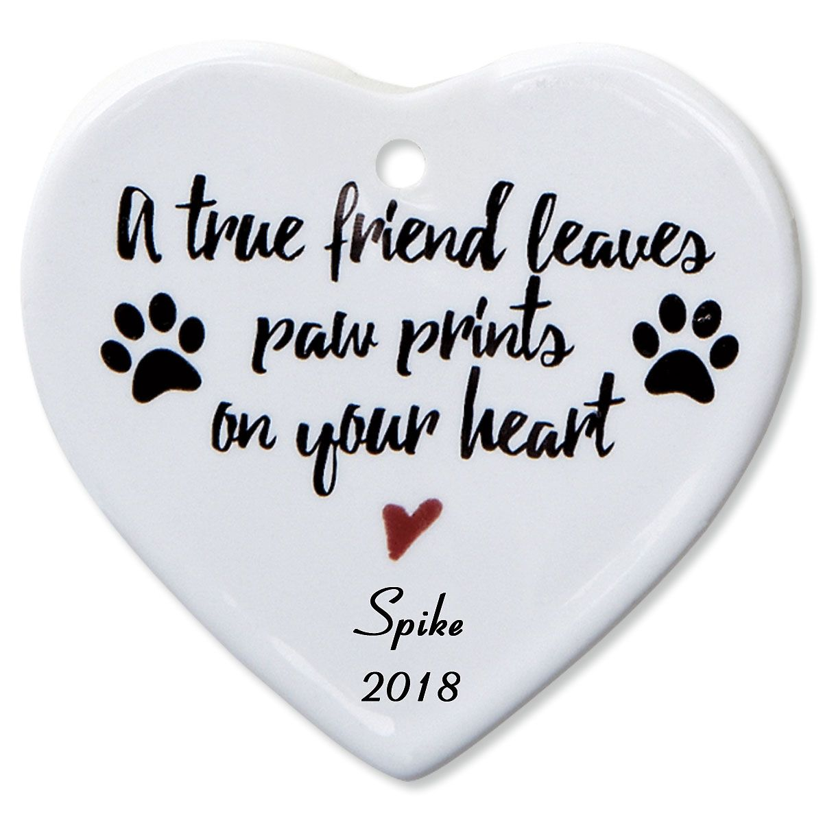 A True Friend Heart Pet Memorial Christmas Personalized Ornaments