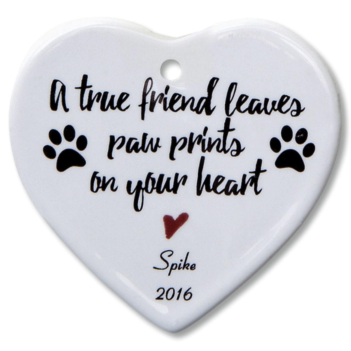 A True Friend Heart Ornament