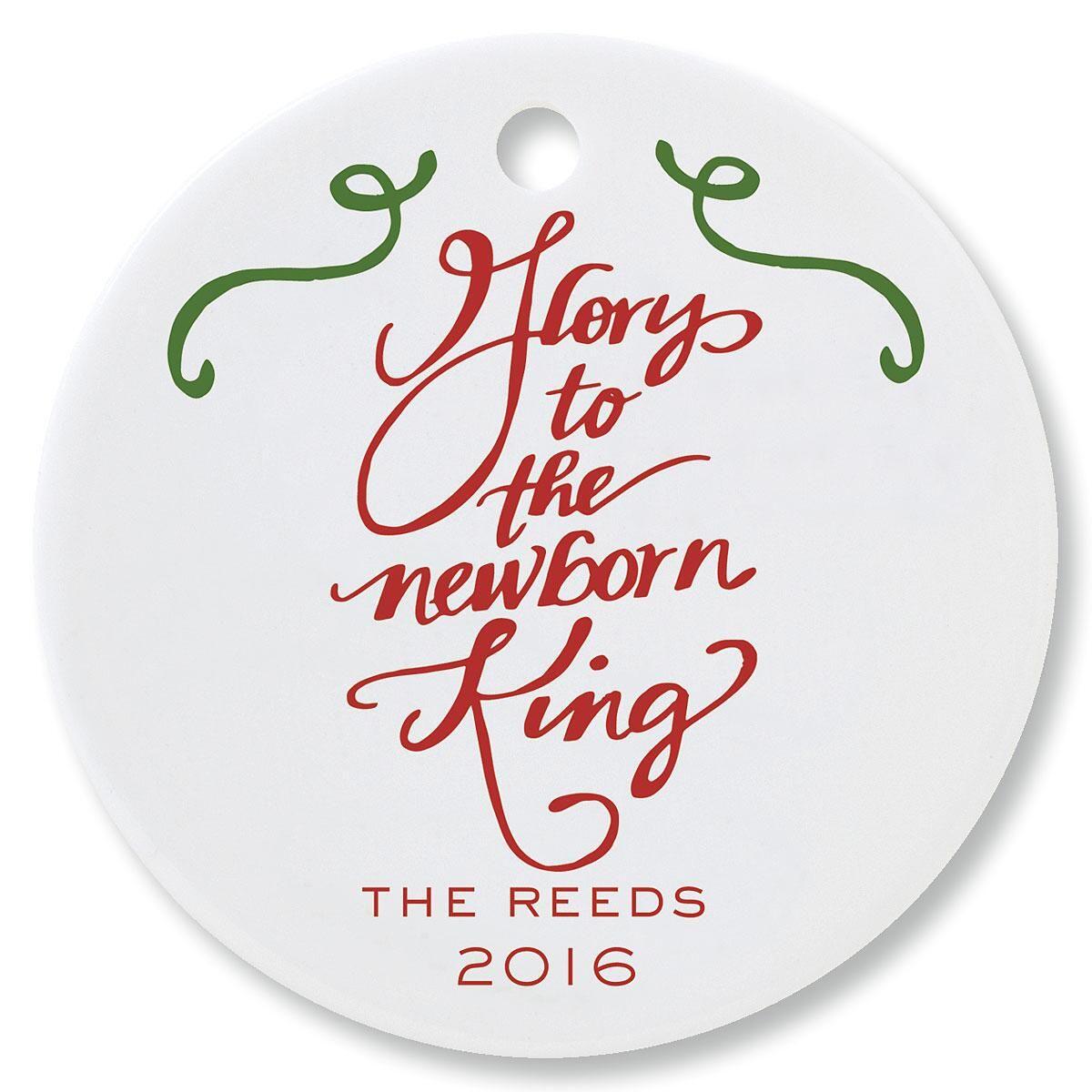 Glory to the Newborn King Round Ornament