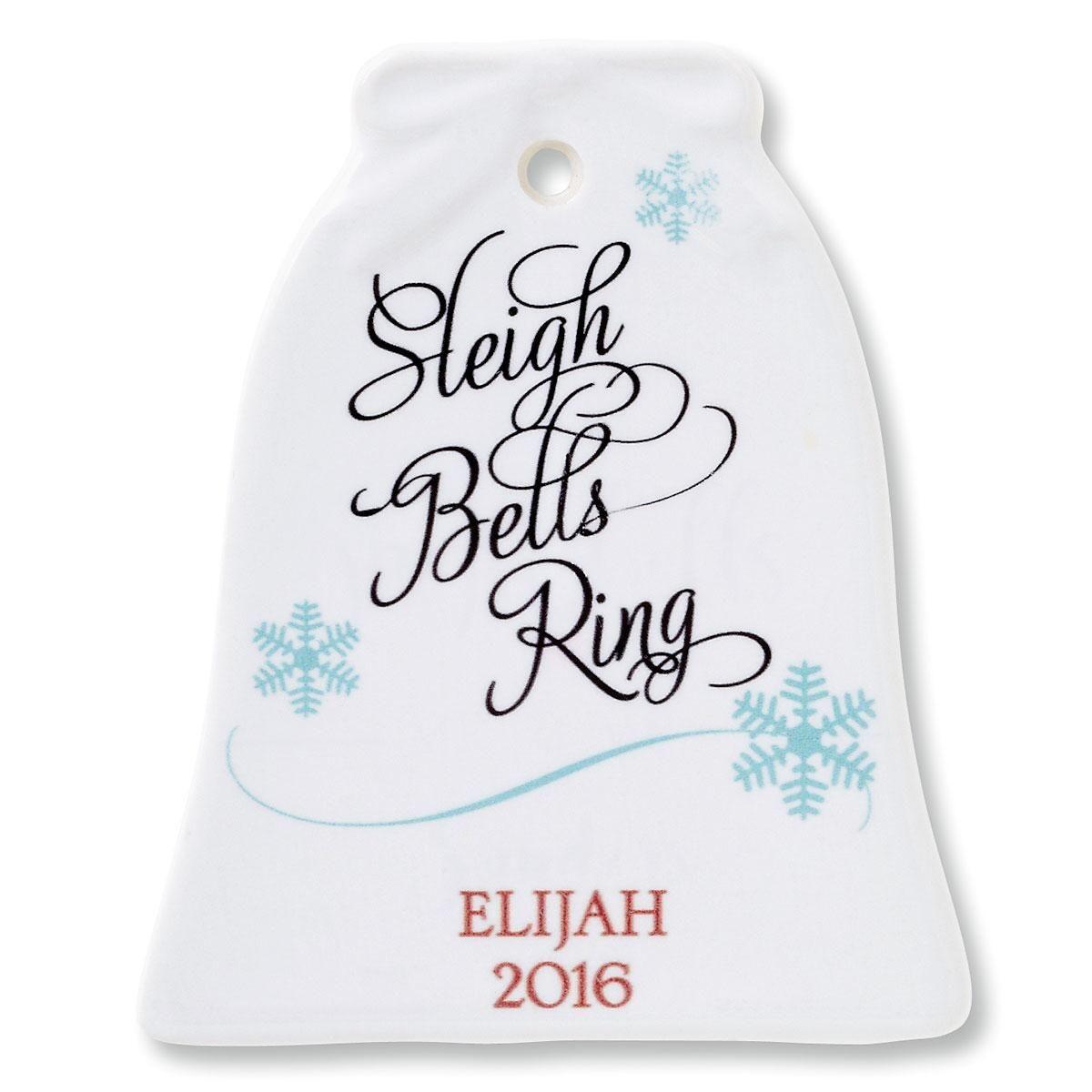 Sleigh Bells Ring Bell Ornament