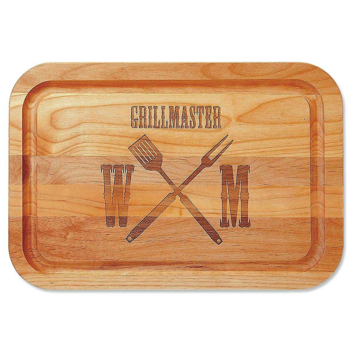 Grillmaster Alder Personalized Wood Cutting Board