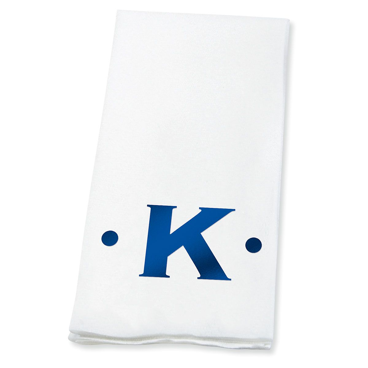 Dot Initial Foil-Stamped Disposable Hand Towels