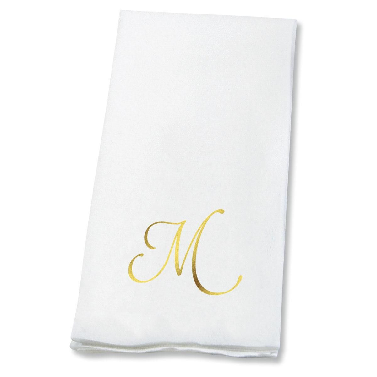 Script Initial Disposable Hand Towels