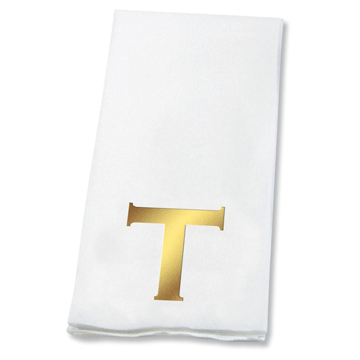Copperplate Initial Disposable Hand Towels